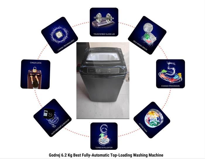 Godrej 6.2 Kg Best Fully-Automatic Top-Load Washing Machine