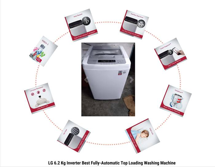 LG 6.2 Kg Inverter Best Fully-Automatic Top Load Washing Machine