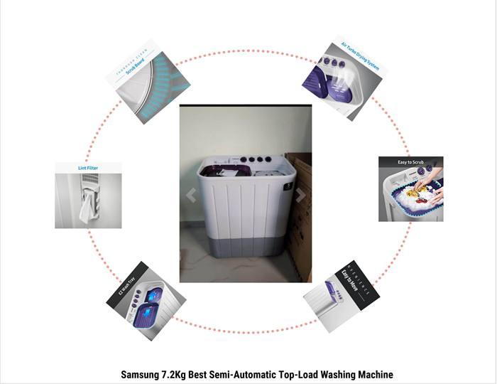 Samsung 7.2 Kg Best Semi-Automatic Top-Load Washing Machine