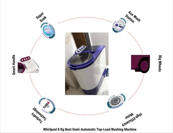 Whirlpool 8 Kg Best Semi-Automatic Top-Load Washing Machine