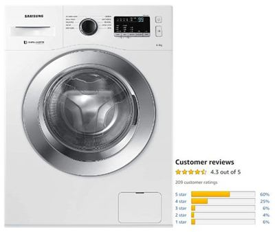 Samsung 6.5 Kg Inverter Fully-Automatic Front-Load Washing Machine
