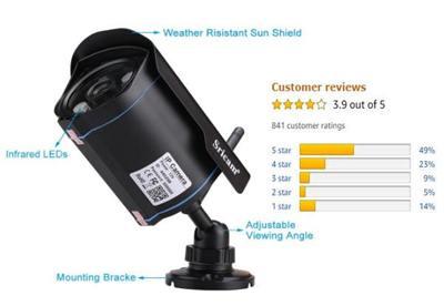 Sricam WiFi SP007 2MP 1080p Waterproof CCTV Camera