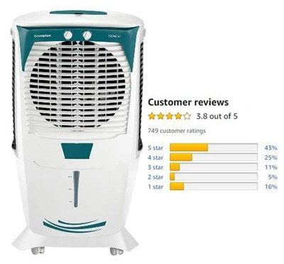 Crompton Ozone 55-Litres Desert Air Cooler